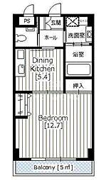 京都ガーデンテラス[409号室号室]の間取り