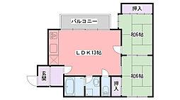 グランジュール武庫川[303号室]の間取り