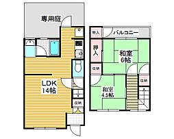 [テラスハウス] 大阪府堺市北区大豆塚町1丁 の賃貸【/】の間取り