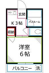 小川コーポ[3階]の間取り