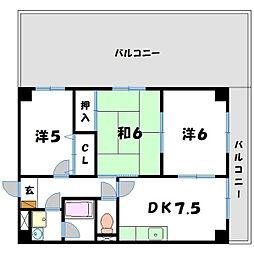 東洋マンション[7階]の間取り