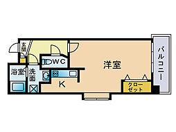 ラフィネス博多リバーステージ[2階]の間取り