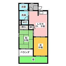 ツインフラッツ B棟[1階]の間取り