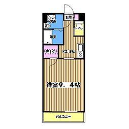 東京都日野市大字川辺堀之内の賃貸マンションの間取り