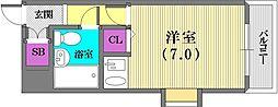 兵庫県神戸市中央区日暮通5丁目の賃貸マンションの間取り