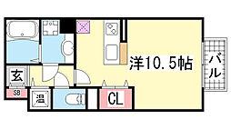 HITOMI DORMITORY[213号室]の間取り