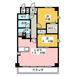 (仮称)メディック共同住宅[2階]の間取り