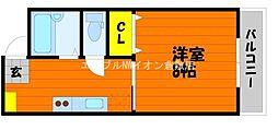 岡山県倉敷市新田丁目なしの賃貸アパートの間取り