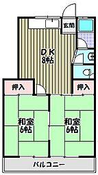 尾崎ハイツ[1階]の間取り