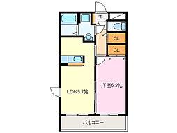 近鉄山田線 斎宮駅 徒歩25分の賃貸マンション 1階1LDKの間取り