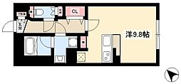 WELLCOURT NAKAMURA-KOUEN 2階ワンルームの間取り
