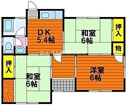 [一戸建] 岡山県岡山市東区松新町丁目なし の賃貸【/】の間取り