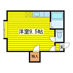 北海道札幌市東区北二十八条東15丁目の賃貸アパートの間取り