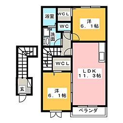 ミューゼズ希央台II[2階]の間取り