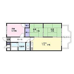 エクセル東加古川壱番館[6階]の間取り