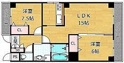 プレスト東田宮[2階]の間取り