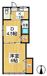 江連ハウス[1階]の間取り