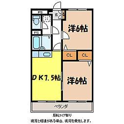 アーバンN・K B棟[3階]の間取り