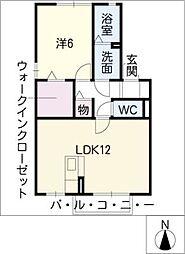アネックス横井[1階]の間取り