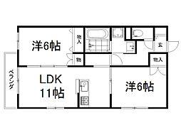 MY Lanai 2階2LDKの間取り