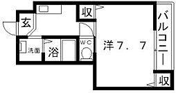 イーストハイツ[3階]の間取り