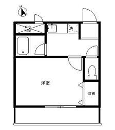 神奈川県相模原市南区南台1丁目の賃貸マンションの間取り