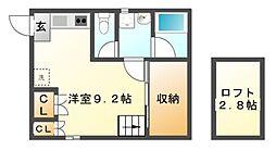 愛知県名古屋市中村区道下町の賃貸アパートの間取り