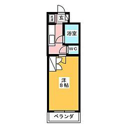 サーラシティー[1階]の間取り