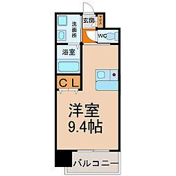 プレサンス鶴舞駅前ブリリアント[805号室]の間取り