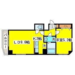 北海道札幌市東区北五条東8丁目の賃貸マンションの間取り