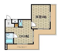 兵庫県神戸市須磨区村雨町5丁目の賃貸マンションの間取り