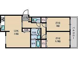 光陽マンション[4階]の間取り