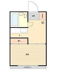 名島ハウス[0304号室]の間取り