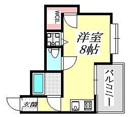 グランドハイツ正覚寺[4O4号室号室]の間取り