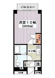 神奈川県横浜市西区浅間町5の賃貸マンションの間取り