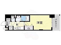 阪急京都本線 崇禅寺駅 徒歩3分の賃貸マンション 6階1Kの間取り
