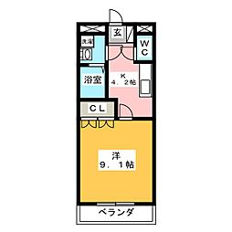 ヴィラ桜の丘[1階]の間取り