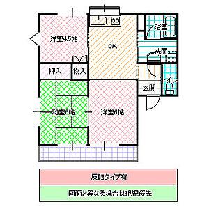 間取り,3DK,面積50m2,賃料4.9万円,JR常磐線 友部駅 3.2km,,茨城県笠間市旭町