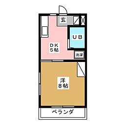 ラッセルコートA[3階]の間取り