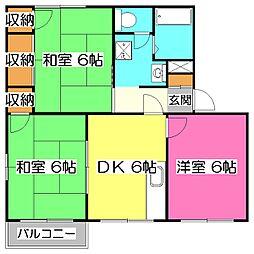 フローラル山田A[1階]の間取り