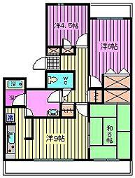 セレーノ大宮[2階]の間取り