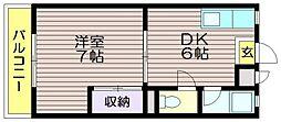 第11島田マンション[205号室]の間取り