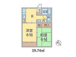 千葉県柏市布施の賃貸アパートの間取り