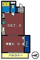 ラ・メゾンノーブル[203号室]の間取り