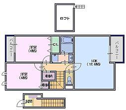 ローズレジデンス[2階]の間取り