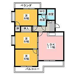 エクセルシオールII[3階]の間取り