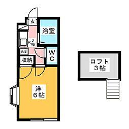 ロフティ菅沼[2階]の間取り