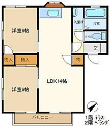 メゾンヨシコーA 103[1階]の間取り