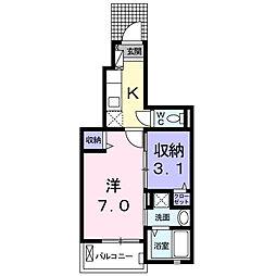 プチフローラ 北野田I[1階]の間取り