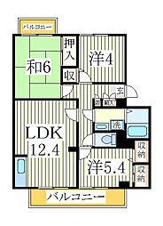 ガーデンビレッジ柏2号棟[1階]の間取り